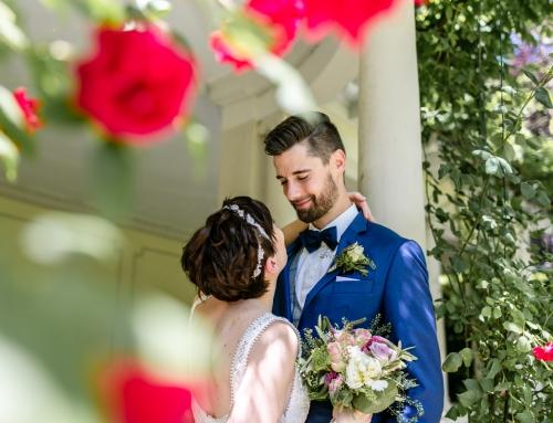 Glückliches und strahlendes Brautpaar in Baden-Baden