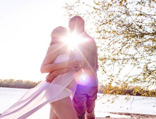 Eine durcheinandergebrachte Corona-Hochzeit
